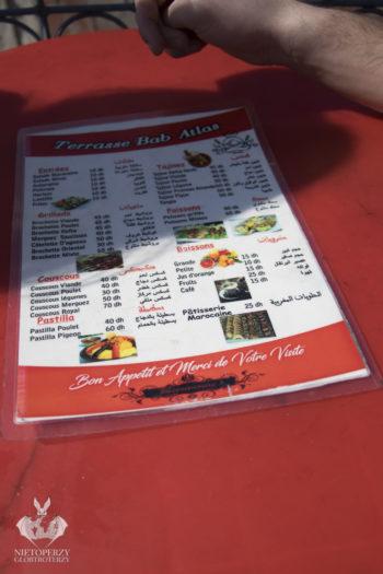 Terrasse Bab Atlas Restaurant – menu
